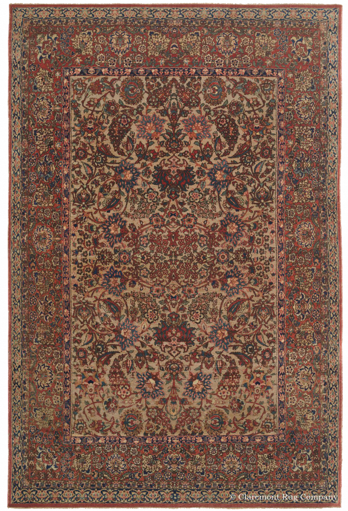 Central Persian Isfahan Late 19th Century Antique Rug