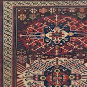 Antique Zejwa Kuba, Southeast Caucasian, 4ft 9in x 6ft 10in, 3rd Quarter, 19th Century