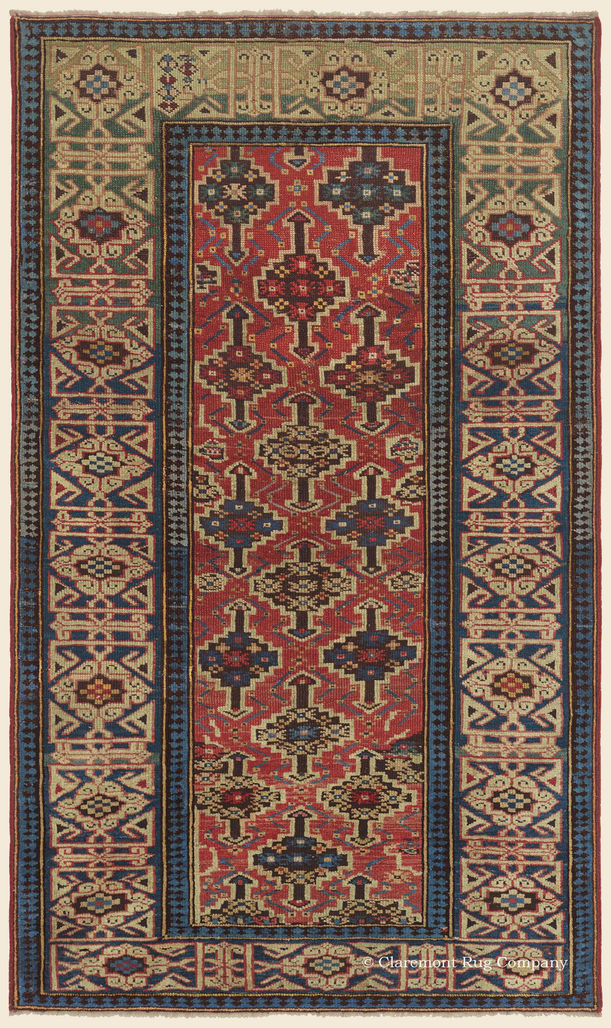 Antique Northeast Caucasian 19th Century Kuba carpet