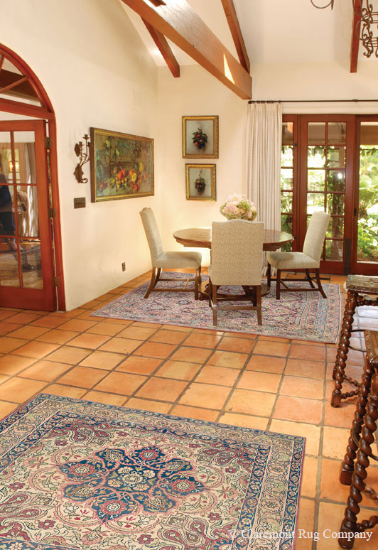 Breakfast area with Laver Kirman Rugs