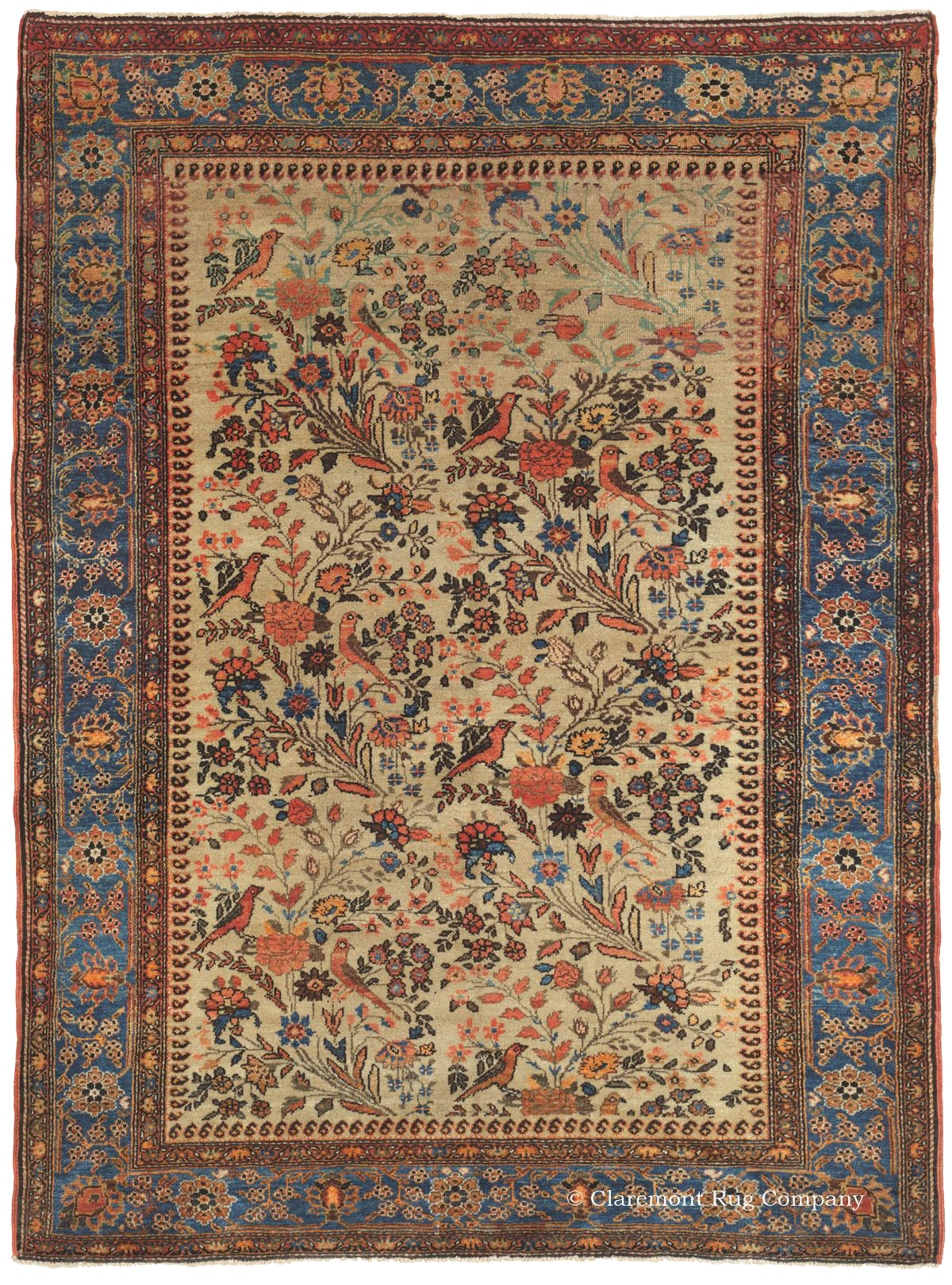 Antique Persian Rugs In The Village Tradition Claremont