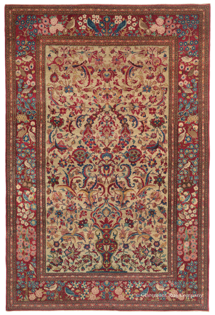 North Central Persian Tehran Vase Rug