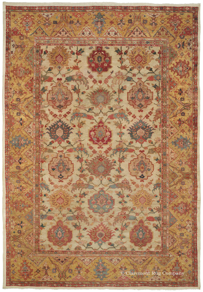 West Central Persian Sultanabad Antique Ivory Carpet From Claremont Rug  Company