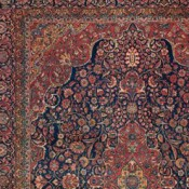 Antique Kashan, Central Persian, 8ft 10in X 12ft, Circa 1920