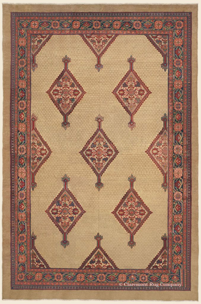 Antique-Persian-Carpet-Serab-Camelhair-8x12