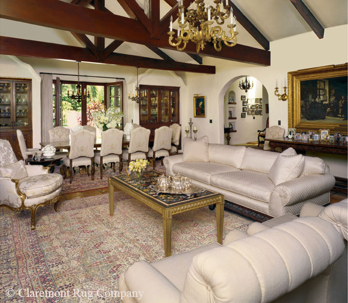 Great Room Main Seating Area with laver kirman carpet