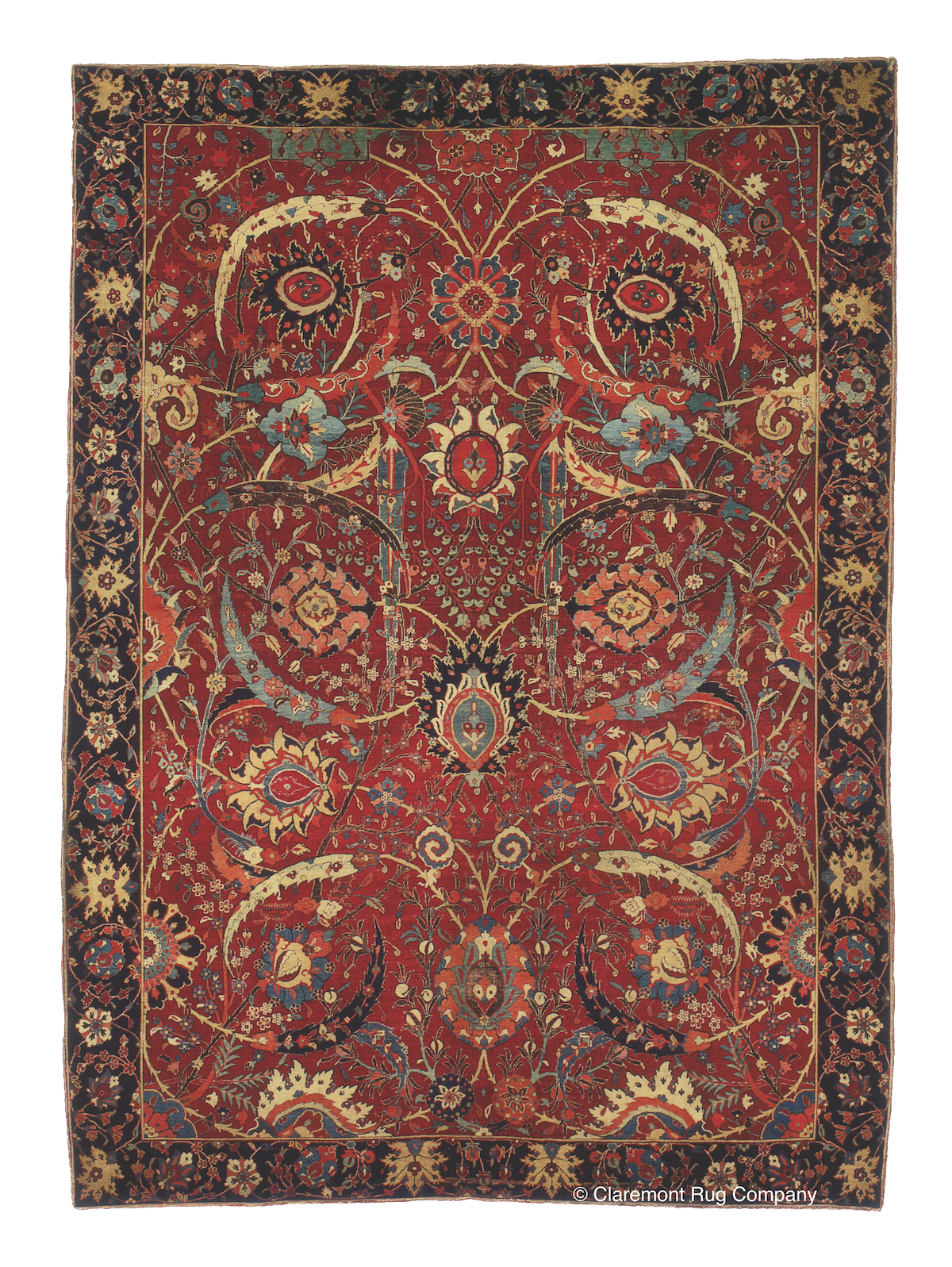 A 17th-century Sickle Leaf Kirman (Museum-Level) sold at Sotheby's New York auction in June of 2013 for $33.7 million, 3½ times the previous record for an Oriental carpet.