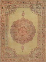 antique Tabriz rug from the famed Hadji Jallili workshop
