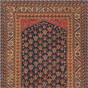 Qashqai Southern Persian antique rug, runner size