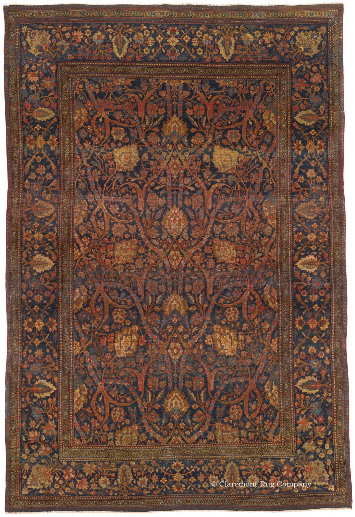 Antique Mohtasham Kashan Carpets From