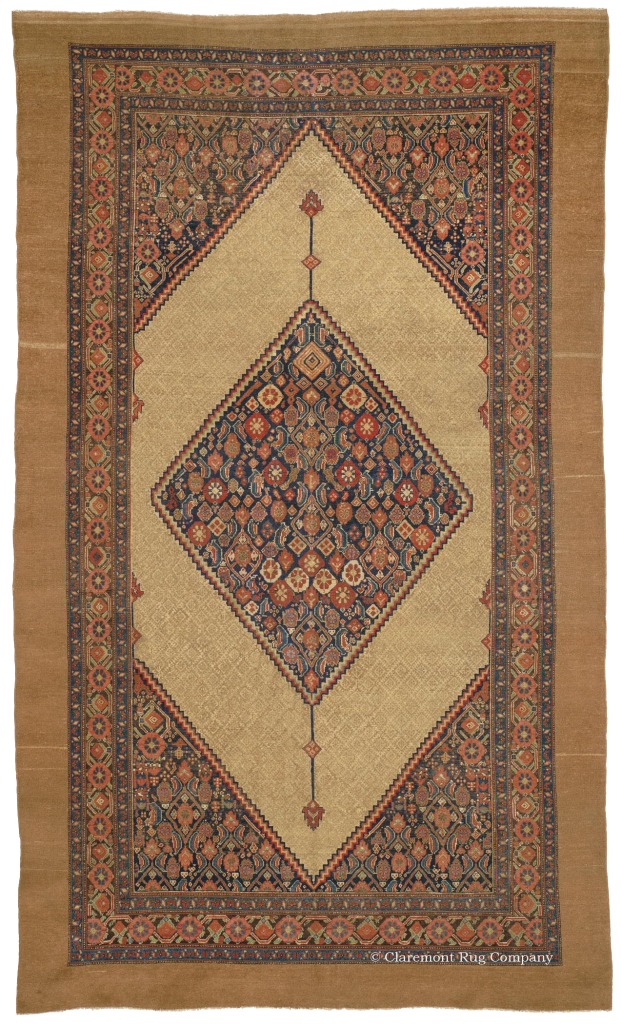 Northwest Persian Serab Camelhair 19th Century Rug