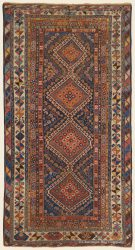 Antique Central Persian Yalameh Rug 4ft 8in x8ft 9in