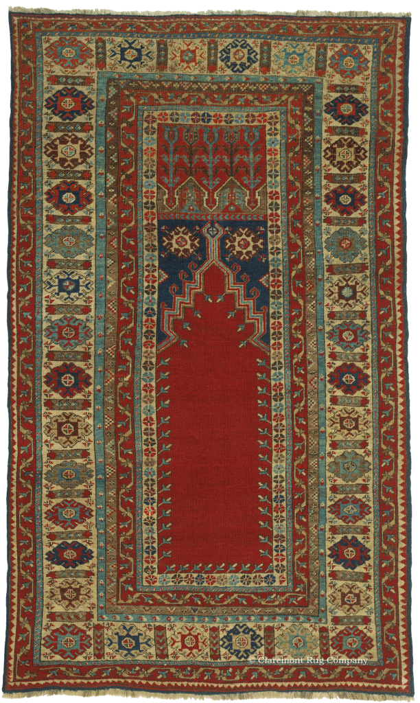 Antique North Central Turkish Ladik Prayer Rug