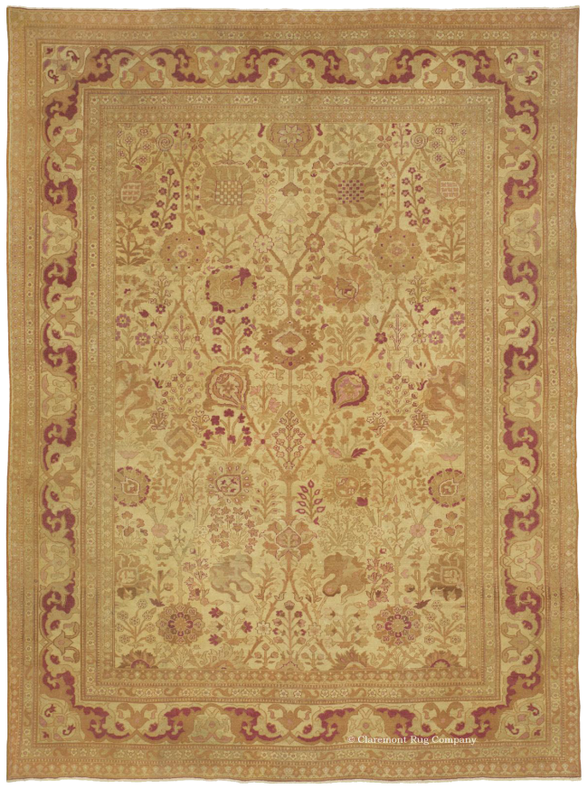 Northern India Amritsar 19th Century Antique Rug