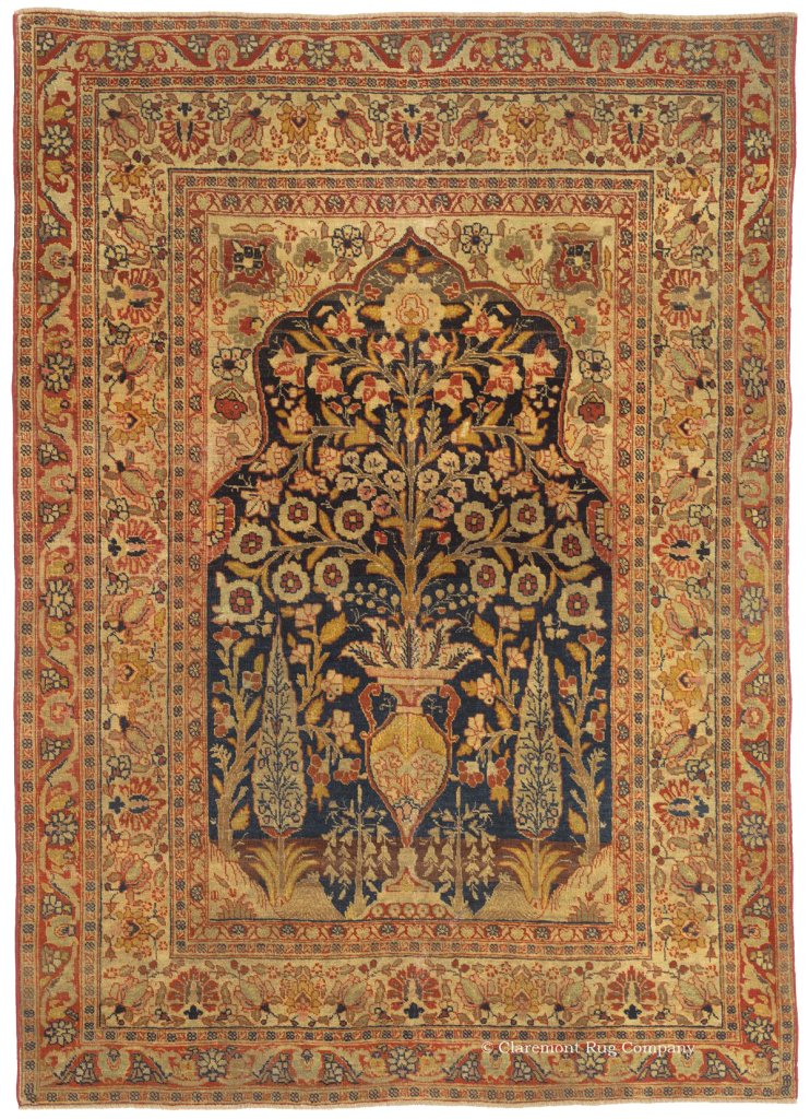 "Click for a larger image of this Tabriz ""Vase Rug"""
