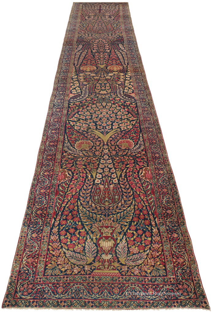 Antique Kermanshah runner with floral designs