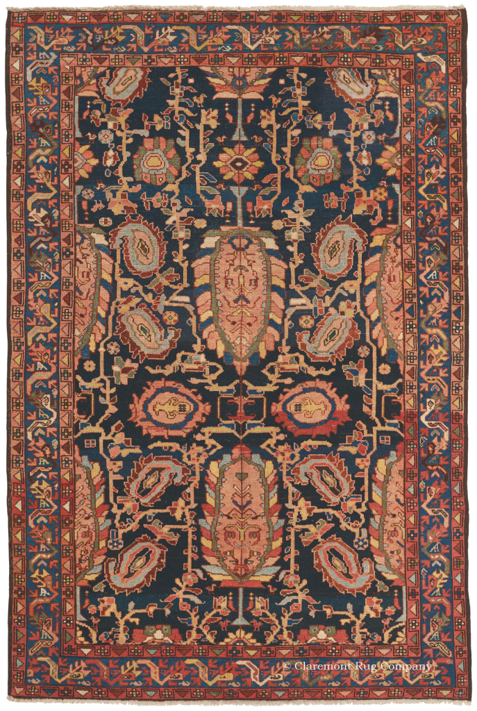 Northwest Persian Bold Navy Malayer Carpet