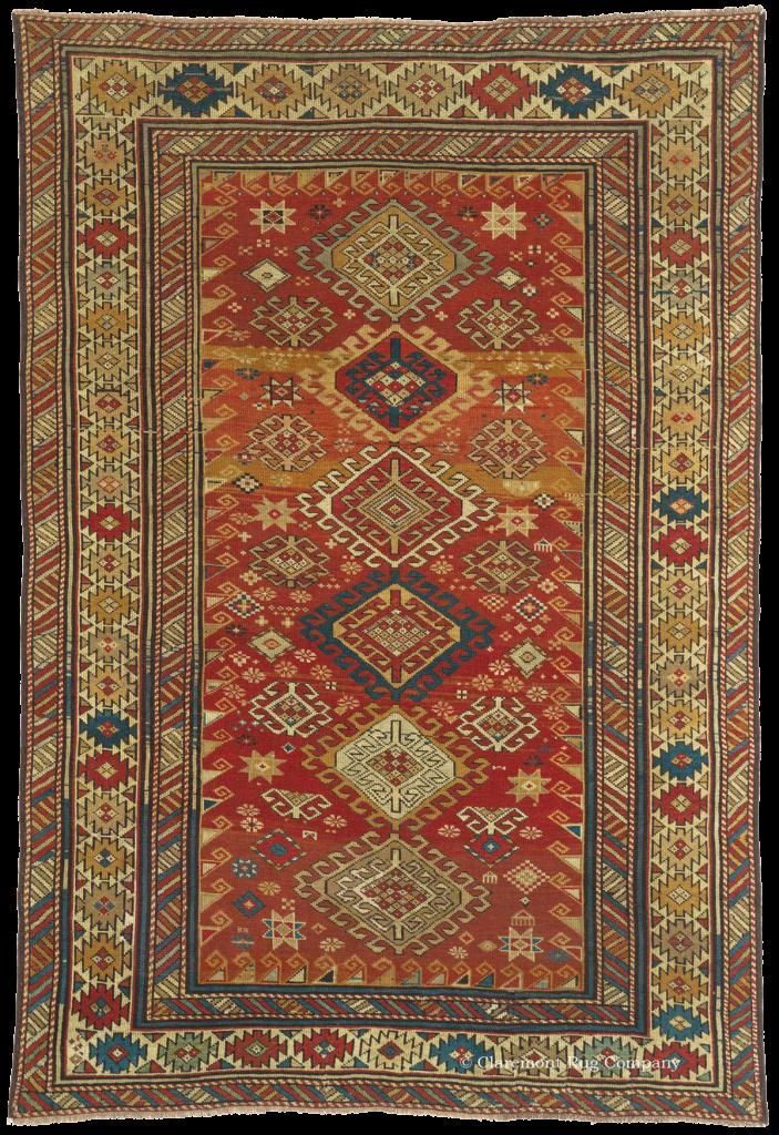 Antique Caucasian Kazak Tribal Rug