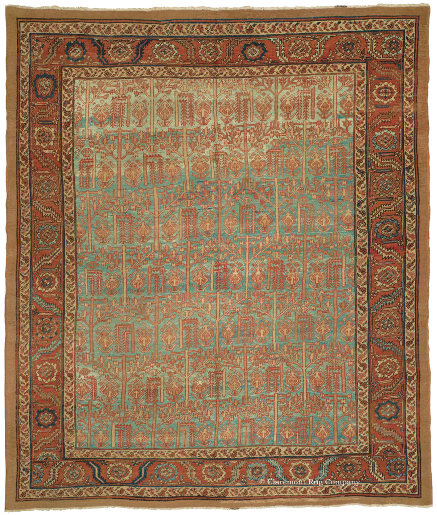 Room-Sized Bakshaish Carpet with Tree of Life Design