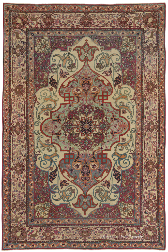 2690 Antique Persian Carpet Tehran 4 6x6 9 Dbc7