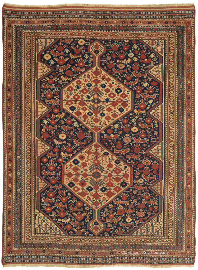Click to learn more about this Arab Khamseh Southwest Persian Rugs