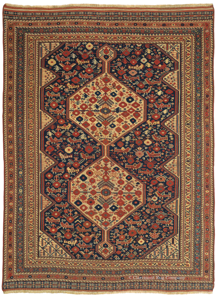 Antique Persian Carpet Arab Khamseh Rug