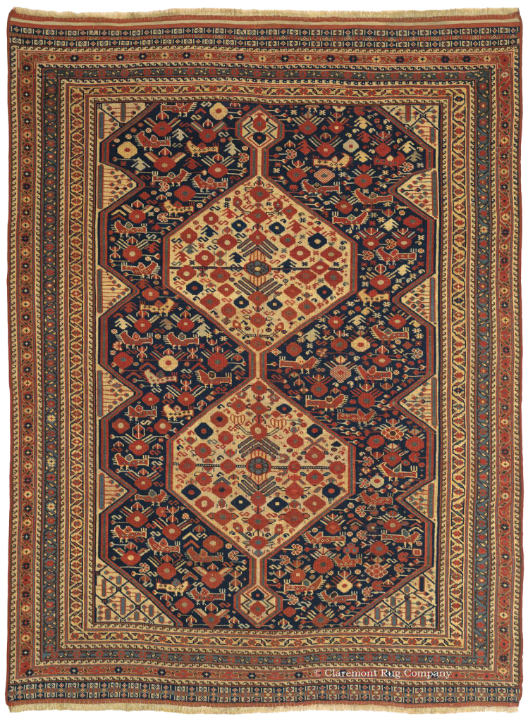 Antique Arab Khamseh Tribal Rug