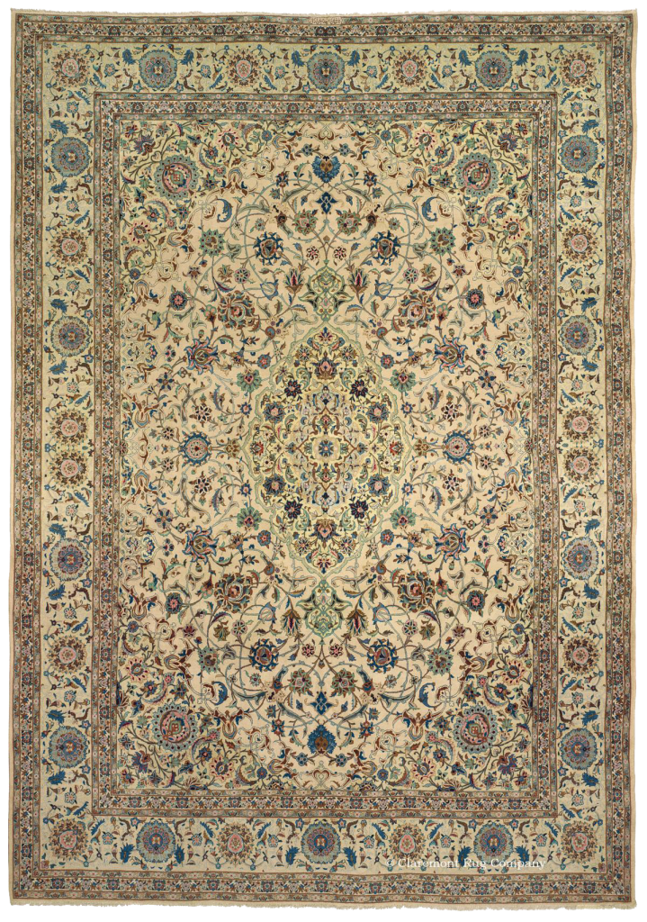 Click for a larger image of this antique Kashan carpet