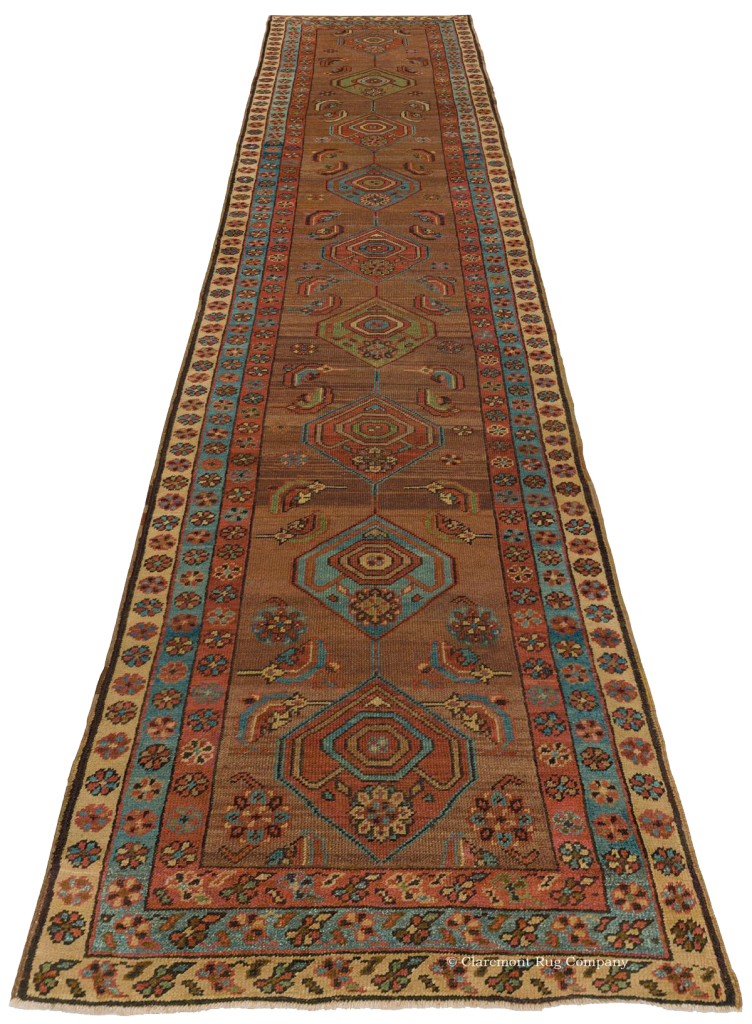 A Heriz Camelhair antique runner