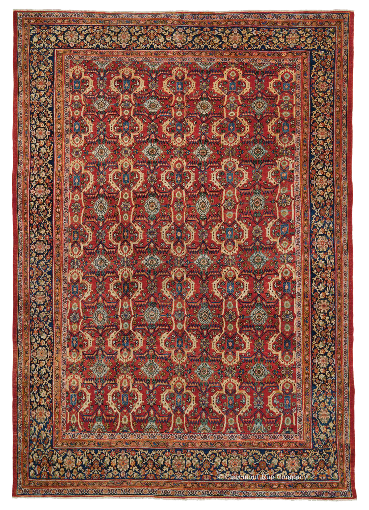 Room Size Persian Ferahan Antique Rug Claremont Rug Company