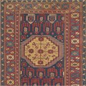 mid Baku Khila Antique Persian Carpets 4-2x7-6