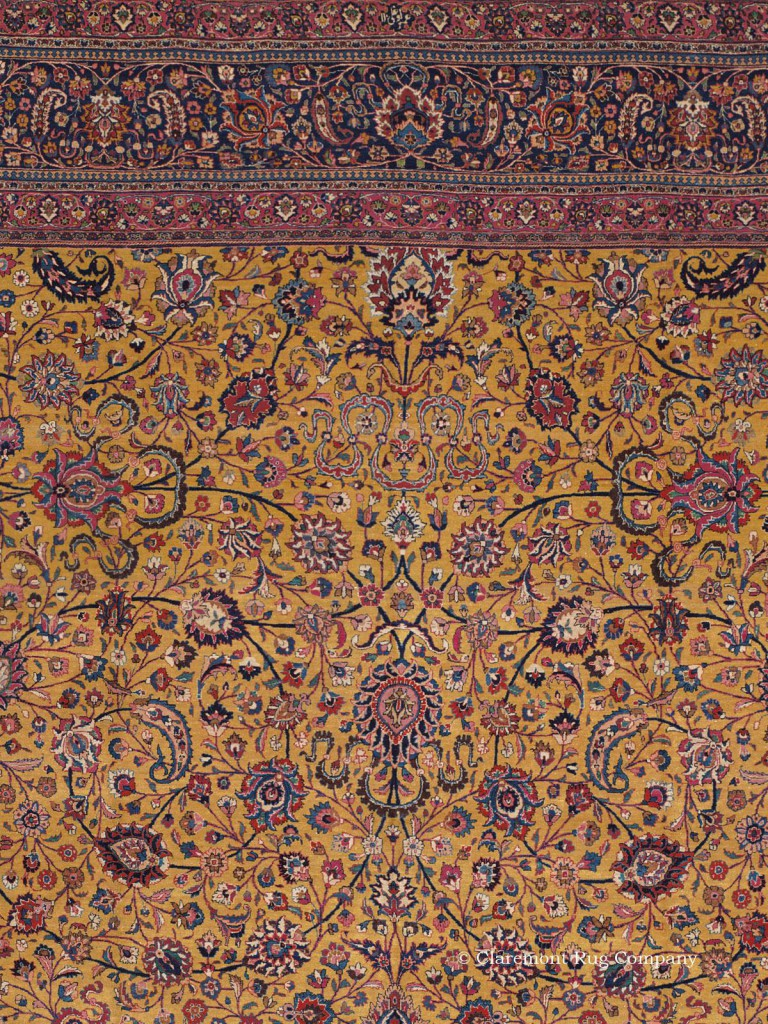 Click to learn more about this stunning palace-sized Northeast Persian Omogli Meshed Rug