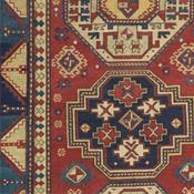 TRIPLE MEDALLION KAZAK - Southern Central Caucasia 4ft 8in x 7ft 0in Circa 1850
