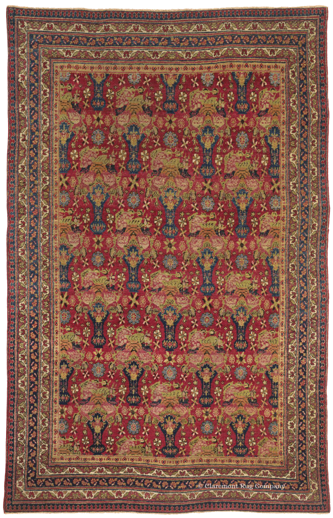 Northeastern Persian Dorasht Antique Rug
