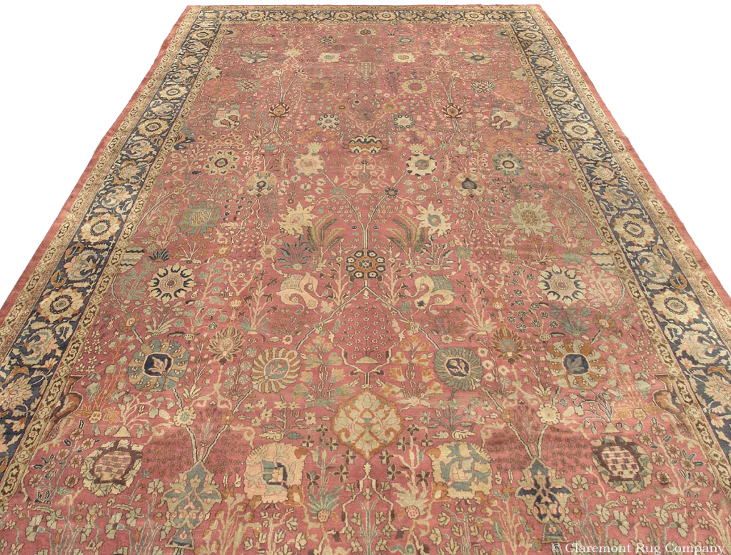 Central Asia Antique Samarkand Carpet 12ft x18ft 6in