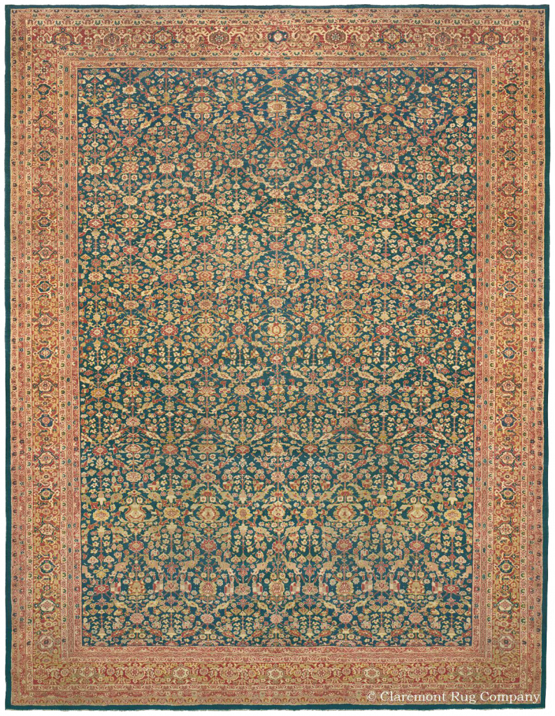 West Central Persian Ziegler Sultanabad Late 19th Century Rug