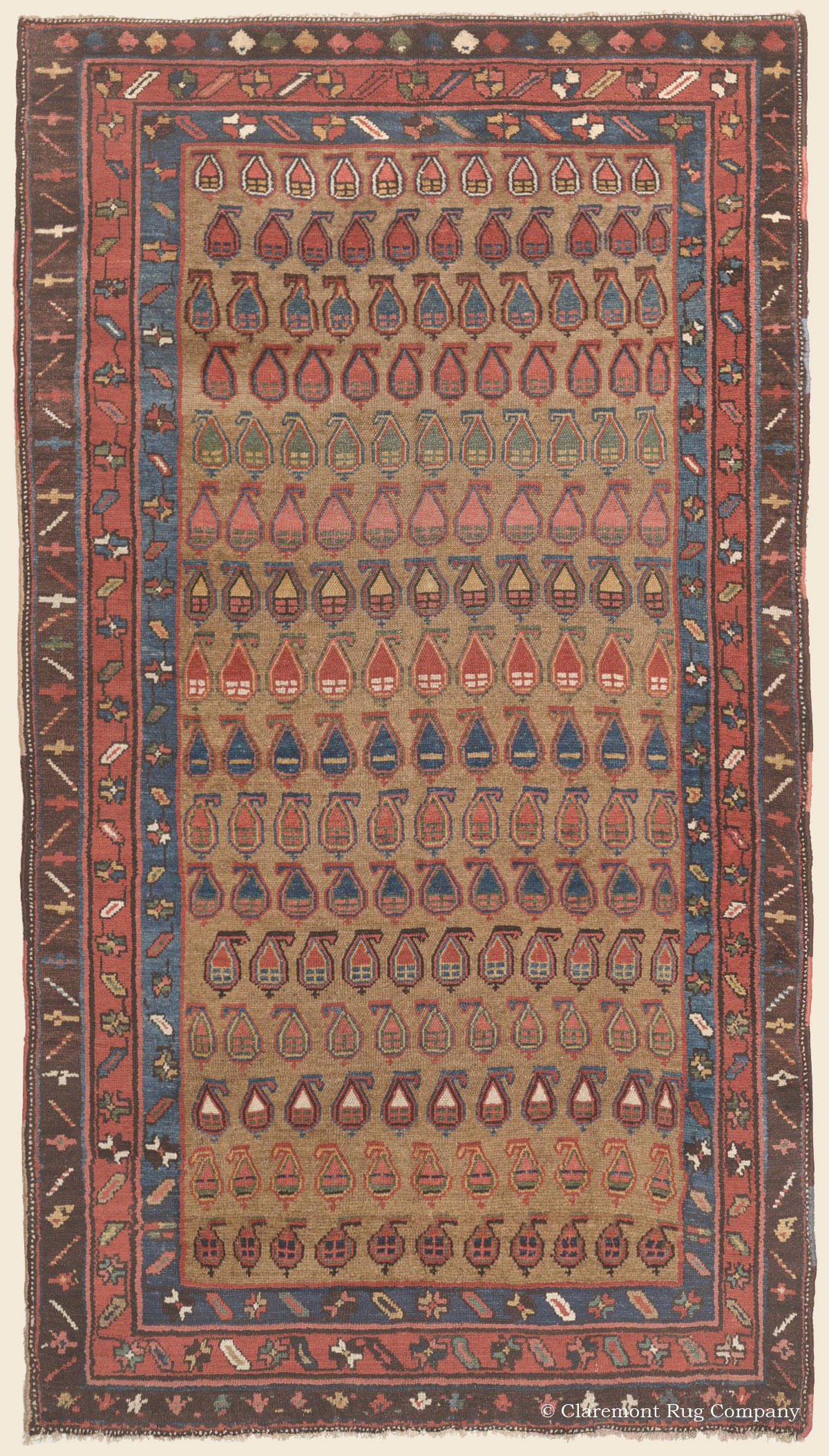Click for more information about this Northwest Persian Kurdish Camelhair rug