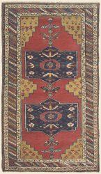 "KURDISH BIJAR (BIDJAR) NORTHWEST PERSIAN 4' 4"" x 7' 6"" (132cm x 229cm) — Circa 1910"