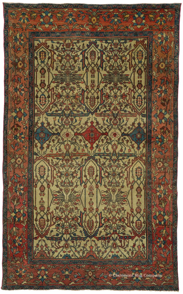 West Central Persian Ferahan Antique Rug from Claremont Rug Company