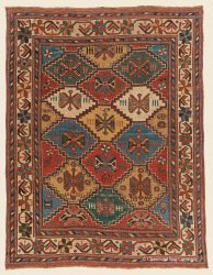 "AFSHAR, CENTRAL PERSIAN 3' 9"" x 4' 10"" (114cm x 147cm) — 3rd Quarter, 19th Century"