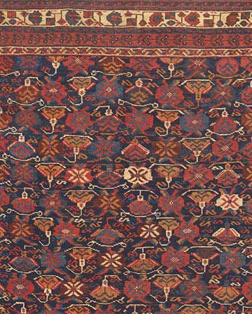 Detail of antique Afshar Rug