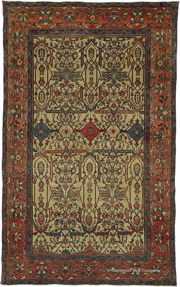 Click to learn more about this early West Central Persian Ferahan Rug