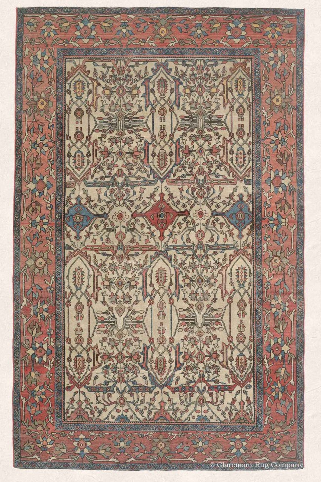 Antique Ferahan Carpet from Persia
