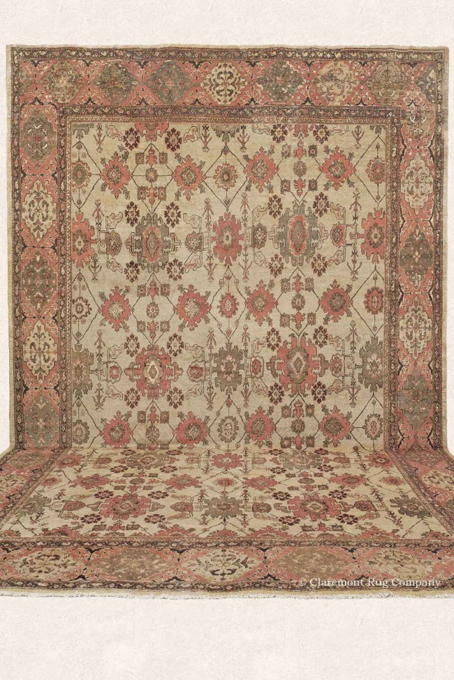 Abstract Floral Antique Persian Carpet