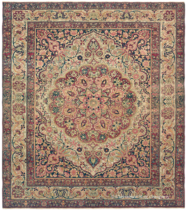 Click to learn more about this stunning Southeast Persian Laver Kirman Rug