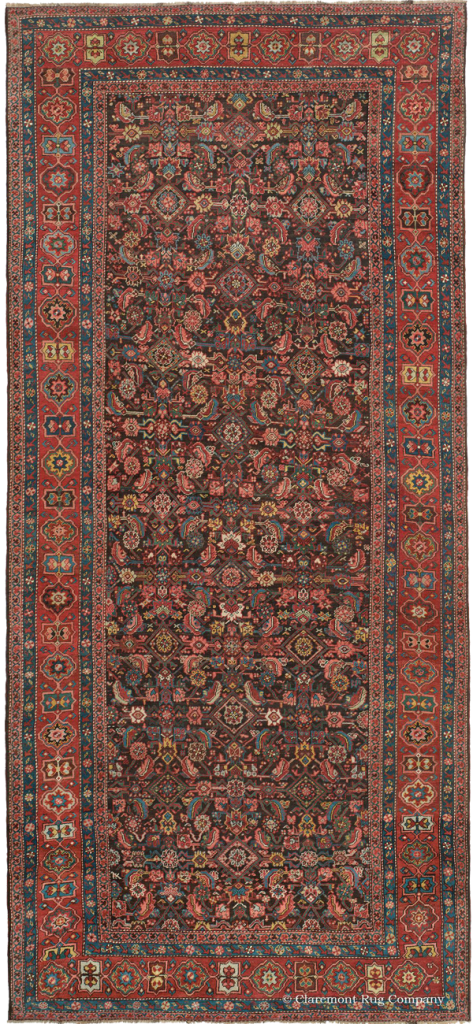 Click to learn more about this Northwest Persian Bakshaish runner rug
