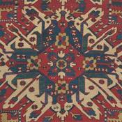 Eagle Medallion Kazak Antique Caucasian Carpet
