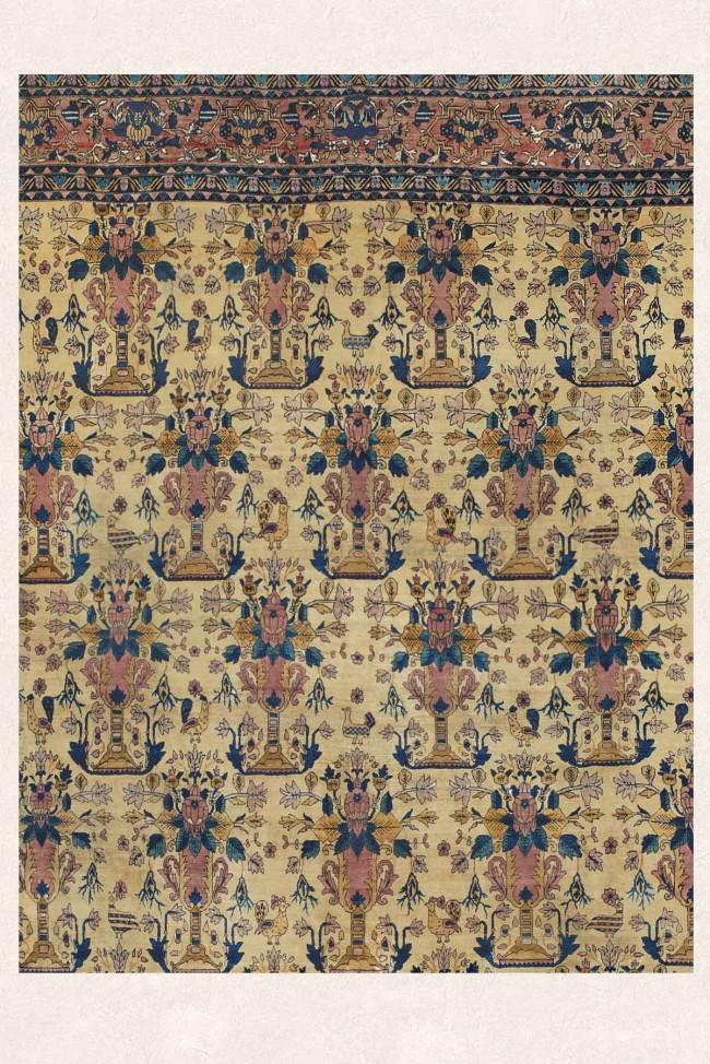 Ferahan Antique Persian Palace Size Carpet