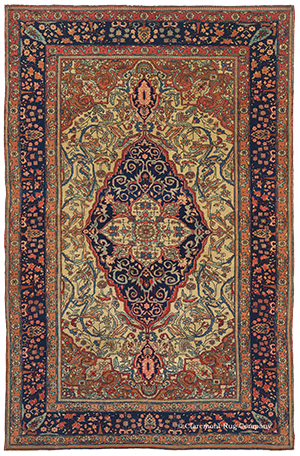 Motasham Kashan Antique Persian Rug