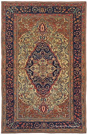 Mohtasham Kashan Antique Persian Rug